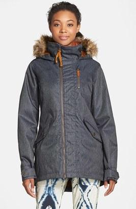 Women's Burton 'Hazel' Waterproof Faux Fur Trim Jacket $219.95 thestylecure.com