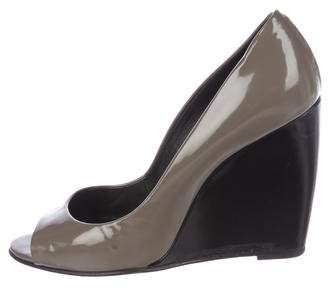 Pierre Hardy Patent Leather Wedge Pumps