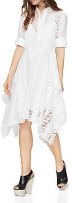 BCBGMAXAZRIA Beatryce Handkerchief-Hem Shirt Dress $298 thestylecure.com