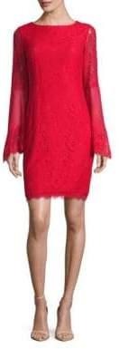 NUE by Shani Long-Sleeve Lace Sheath Dress