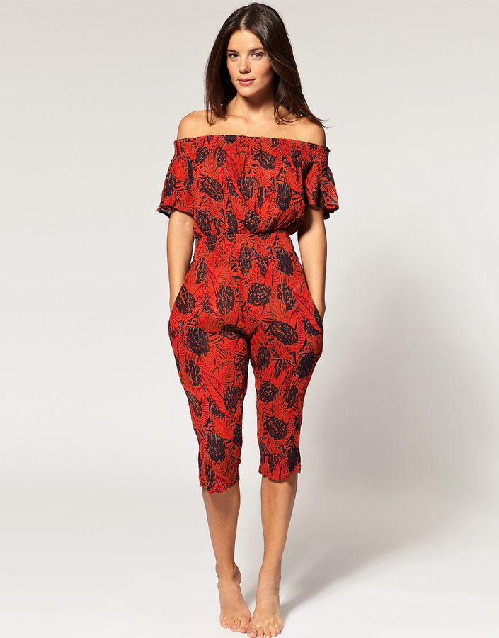 French Connection Pina Colada Beach Jumpsuit
