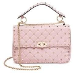Valentino Medium Rockstud Stitched Leather Chain Shoulder Bag