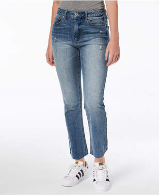 Dollhouse Juniors' Cropped Flare Jeans