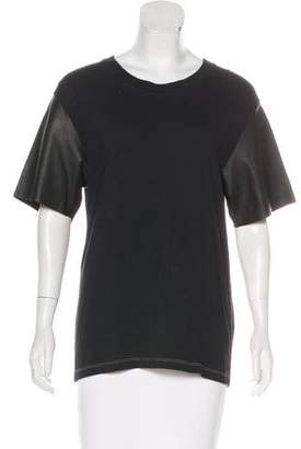 Golden Goose Leather-Paneled Celia Top w/ Tags
