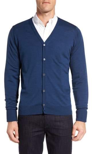 'Bryn' Easy Fit Wool Button Cardigan