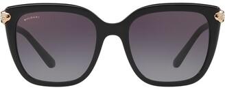 Bulgari oversized square frame sunglasses