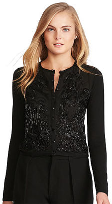 Polo Ralph Lauren Beaded Silk-Cashmere Cardigan $498 thestylecure.com