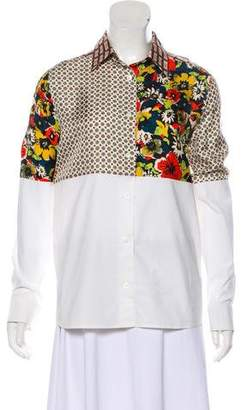 Jean Paul Gaultier Patterned Button-Up Top