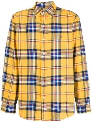 Polo Ralph Lauren checked embroidered-logo shirt
