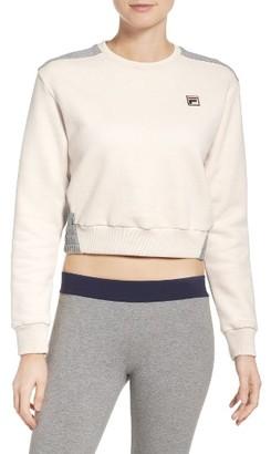 Women's Fila Felicity Crop Sweatshirt $75 thestylecure.com