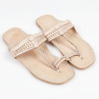 NEW Handmade leather sandals in natural nude by Banjarans Leather Sandals