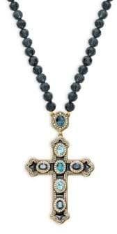 Heidi Daus Crystal Long Cross Pendant Necklace