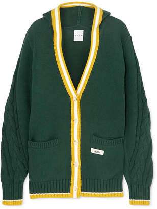 Kith - Kinzey Hooded Cable-knit Cotton Cardigan - Forest green