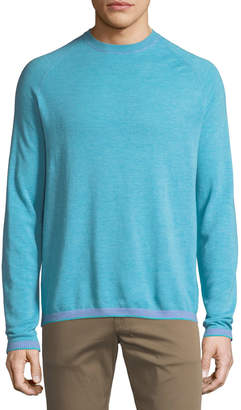 Robert Graham Men's Ray Brook Wool/Cotton Pullover Sweater