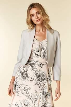 Wallis Womens Grey Cropped Bolero - Grey
