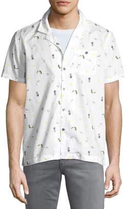 Michael Bastian Pina Colada Short-Sleeve Sport Shirt