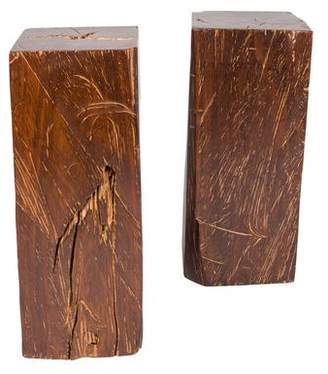 Pair of Solid Wood Pedestals