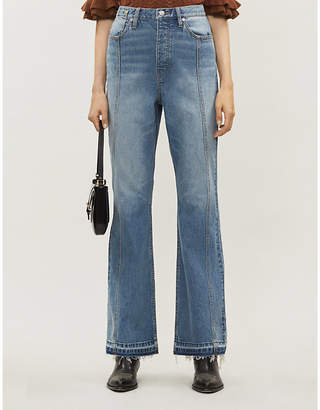 Selfridges Happy X Nature Flared high-rise jeans