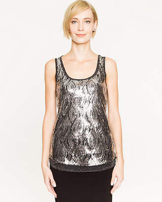 Le Château Sequin Scoop Neck Top