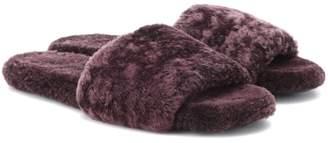 The Row Teddy Bear shearling sandals