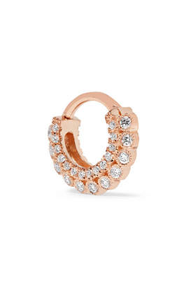 Maria Tash - 14-karat Rose Gold Diamond Earring - one size