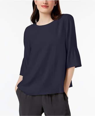 Eileen Fisher Silk Flutter-Sleeve Top, Regular & Petite