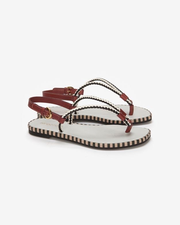 Sergio Rossi Metal Pop Flat Thong Sandal