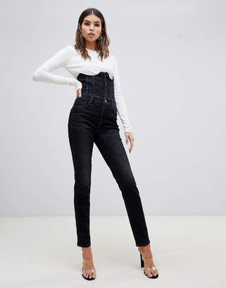 Miss Sixty highwaisted corset detail skinny jean