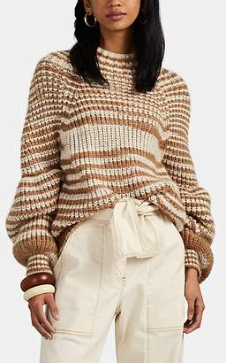 Ulla Johnson Women's Raquel Striped Chunky Rib-Knit Sweater - Brown