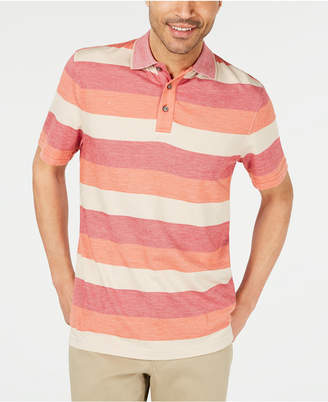 Tasso Elba Men Striped Supima Blend Stripe Polo