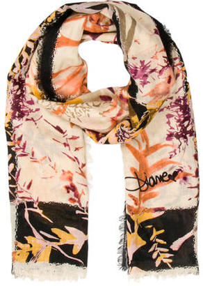 Diane von Furstenberg Multicolor Printed Scarf $95 thestylecure.com