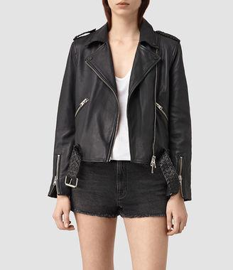 Braided Wyatt Leather Biker $620 thestylecure.com