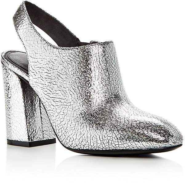 Michael Kors Collection Clancy Metallic Leather High Heel Booties