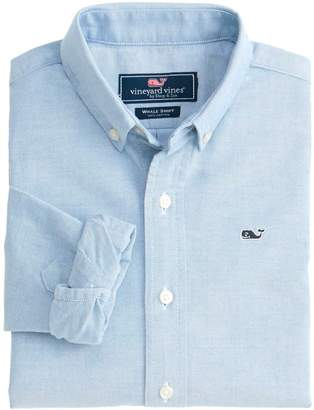 Vineyard Vines Kids Solid Oxford Whale Shirt