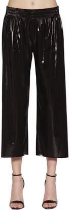 Norma Kamali Metallic Stretch Jersey Crop Pants