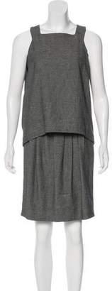 Valentino Wool-Blend Knee-Length Dress