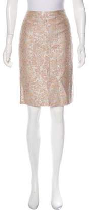 Carmen Marc Valvo Embroidered Jacquard Skirt w/ Tags