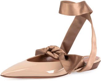 Altuzarra Kirk Ankle-Tie Ballet Flats