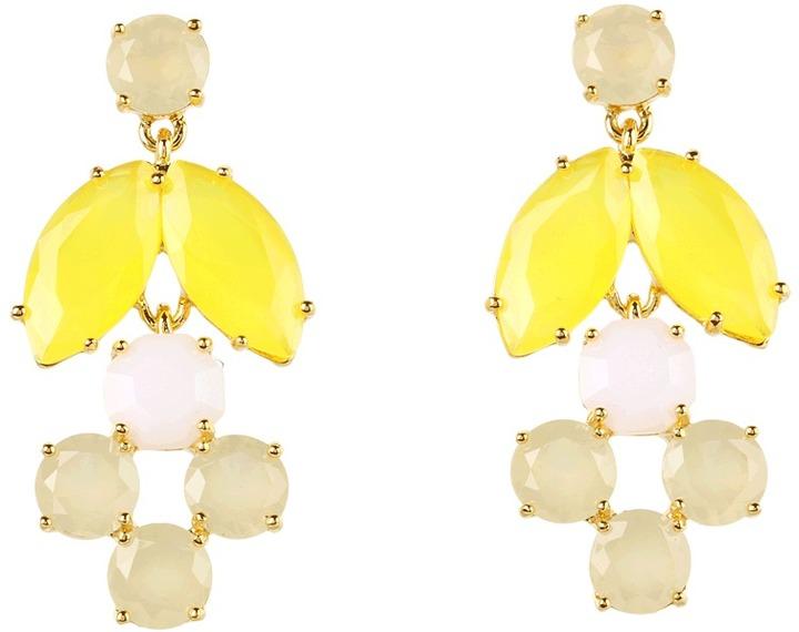 Kate Spade Marquee Chandelier Earrings (Yellow/Tan/White Multi) - Jewelry