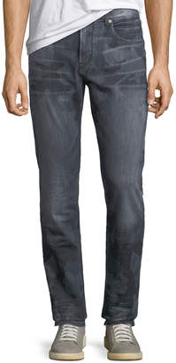 Robert Graham Men's Capture Woven Straight-Leg Jeans, Gray