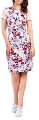 French Connection Linosa Floral Short-Sleeve Dress