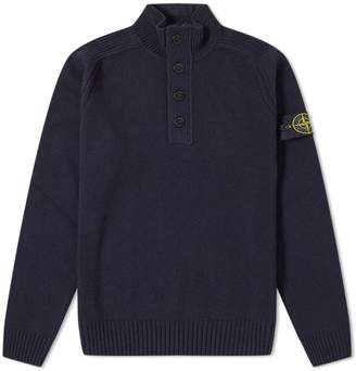 Stone Island Half Zip & Button Knit