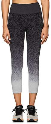 Electric Yoga WOMEN'S GEOMETRIC-PATTERN JACQUARD CAPRI LEGGINGS - GRAY SIZE XS