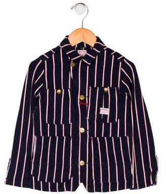 Denim Dungaree Boys' Striped Button-Up Jacket