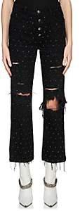 Amiri Women's Studded Straight Jeans - Black