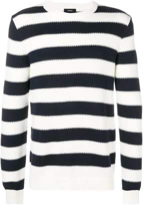 Theory striped crewneck sweater