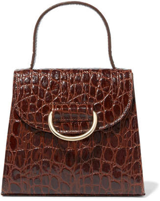 Little Liffner - Little Lady Croc-effect Leather Tote - Brown
