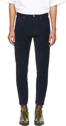 Acne Studios Navy Bla Konst Corduroy River Trousers