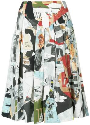 Moschino flared midi skirt