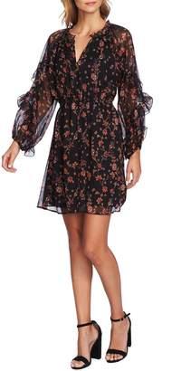 CeCe Bohemian Garden Ruffle Sleeve Mini Dress